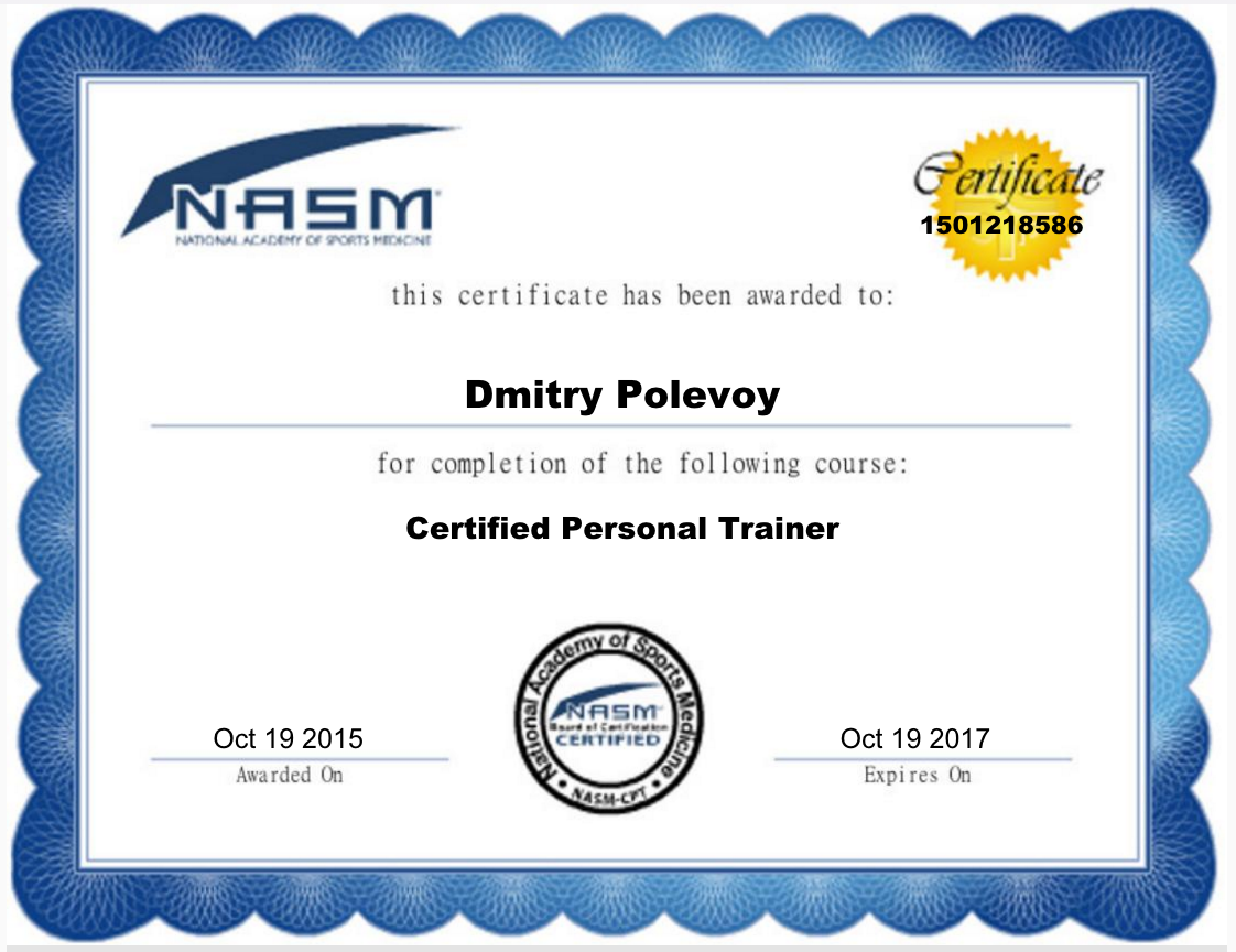 Dmitry polevoy personal trainer profile guided fitness nasm certified personal trainer xflitez Images